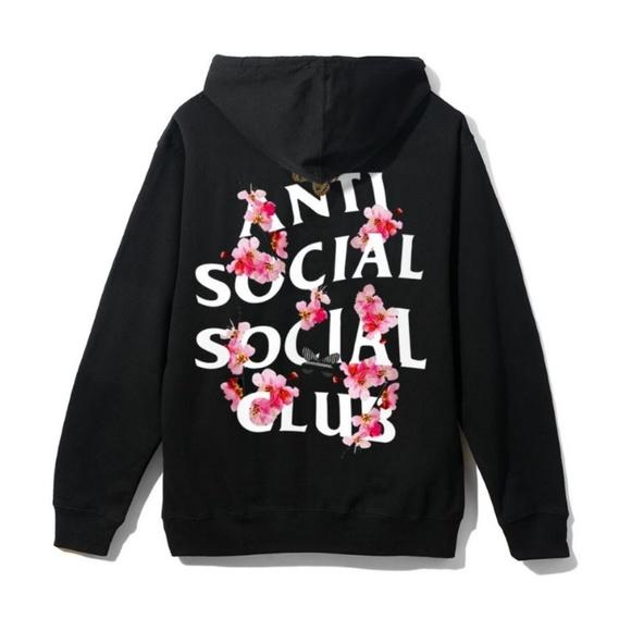 3abd3cc27ecc ANTI SOCIAL SOCIAL CLUB KKOCH ZIP HOODIE LARGE